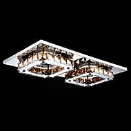 Umei ™ levou cristal montagem embutida, 2 Luz, âmbar moderna galvanização de aço inoxidável