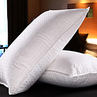 Bomull / Lin Down Feather Jacquard Bed Pillow