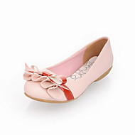 נעלי נשים - שטוחות - דמוי עור - בלרינה - שחור / ורוד / שנהב - קז'ואל - עקב שטוח