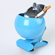 Fashion New Type Stainless Steel Lidded Clip Ashtray - 3 Colours Avaliable