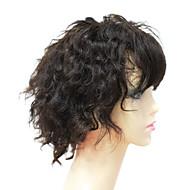 Full Lace 100% Menneskelig Remy Hair Kort krøllete hår parykk
