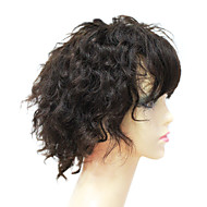 Full Lace 100% Human Remy hiukset lyhyet kiharat hiukset peruukki
