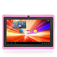 "A33 8GB 7"" Capacitive Android 4.4 Dual Camera Wifi Tablet PC Pink Bundle Case"