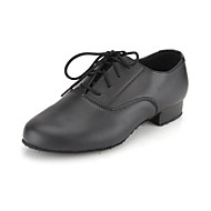 Non Customizable Kids'/Men's Dance Shoes Ballroom/Modern Leather Flat Heel Black