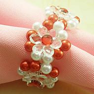 Perle de mariage de fleur de Serviette Set de 12 Dia 4.5cm
