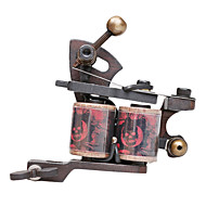 Dupla Bobinas 10 Wraps Tattoo Machine Gun