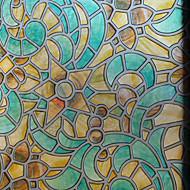 Geometrinen Klassinen Ikkunakalvo,PVC/Vinyl materiaali ikkuna Decoration