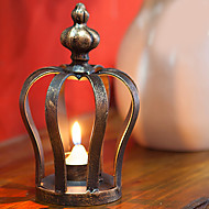 "7 ""H Retro styl Crown Iron Candle Holder"