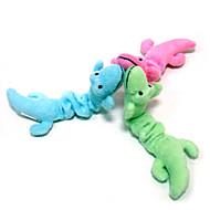 Игрушка для котов Игрушка для собак Игрушки для животных Плюшевые игрушки Динозавр Мультфильмы Текстиль Зеленый Синий Розовый