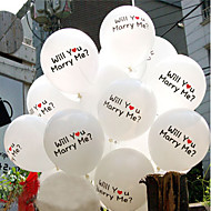 """""""Will You Marry Me"""" Printing Latex Balloon - Sett med 6"""