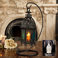 "13 ""H antik stil Hollow Out Iron Lantern Candle Holder"
