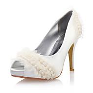 Women's Wedding Shoes Heels/Peep Toe Heels Wedding Ivory