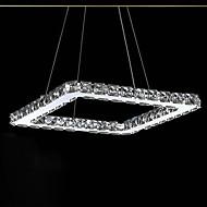 ledet krystall lysekrone, moderne firkantet rustfritt stålplater