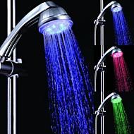 7 Colors Romantic LED Light Top Spray Shower Head Bathroom Showerheads