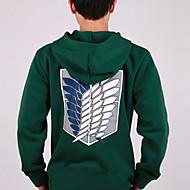 geinspireerd door Attack on Titan Mikasa Ackermann Anime Cosplay Kostuums Cosplay Sweaters Print  Groen Lange mouw Jas
