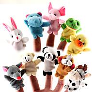 10 stycken djur plysch fingerdockor in bebis plysch leksaker tecknade barn utbildning leksaker