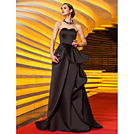 Formal Evening/Military Ball Dress - Black Plus Sizes A-line Sweetheart Sweep/Brush Train Satin
