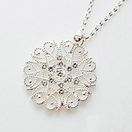 Women's Snowflake Glitter Rhinestones Necklace