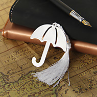 Silver Umbrella Bookmark with Tassel