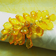 Black / Yellow Acrylic Napkin Ring