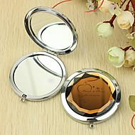 Personlig gave Heart Mønster Chrome kompakt spejl