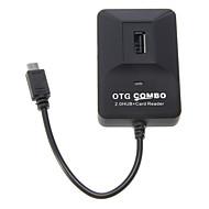 OTG intelligente multi Fcuntion Combo pour Smart Phone & Pad (2.0 HUB + Lecteur de cartes)