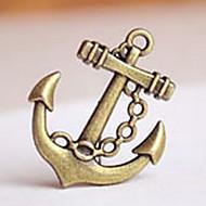 Anchor Formad Brons Pendant för Keychain - Set om 20