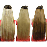 25 Inch Clip Synthetic Suora Hiustenpidennys 5 leikkeet (Assorted 3 Colors)