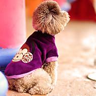 Madden Warm Affe Muster Hundebekleidung (Purple)