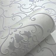 Damast Tapete Für Privatanwender Klassisch Wandverkleidung , Geflockter Samt Stoff Klebstoff erforderlich Tapete , Zimmerwandbespannung