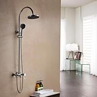 חורי שלוש מקלחת גשם עכשווית פליז Chrome סיום מקלחת ידית אחת מגופים סט
