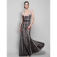 Homecoming Military Ball/Formal Evening Dress - Champagne Plus Sizes Sheath/Column Straps Floor-length Lace