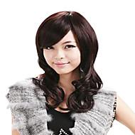 Mixed 30% Human Hair Half lace Long Side Bang Stylish Wig