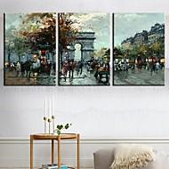 Reprodukce na plátně umění Krajina Arch of Triumph Sada 3