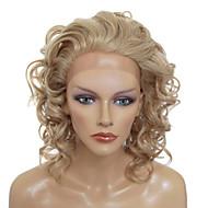 Nyörilliset Tyylikäs Keskipitkä Curly lämmönkestävä synteettinen Peruukki (Blondi)