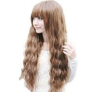 Corn roll senza cappuccio completa Bang sintetico ondulate lunghe parrucche 3 colori disponibili