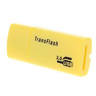 USB 2.0 Micro SD Memory Card Reader (Yellow/Black/Blue)