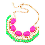 Amazing Alloy Gold With Acylic Women's Necklaces(More Colors)