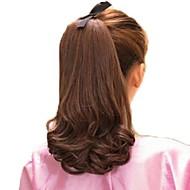 De 12 polegadas de alta qualidade Volume sintético Cavalinha rabo de cavalo encaracolado peruca 5 cores disponíveis