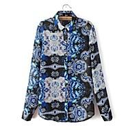 Women's Blouse , Casual/Print Long Sleeve