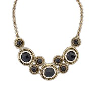 European Style (Circles) Alloy Acrylic Fashion Statement Necklace (More Color) (1 pc)