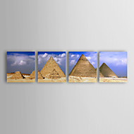Stretched Canvas Art Landscape The Giza Pyramids in Egypt Set of 4
