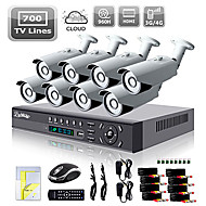 Sistema di telecamere 8CH HDMI 960H Network DVR 700TVL Outdoor Day / Night Sicurezza Liview ®