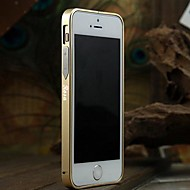 Personalized Engraved Slim Metal Bumper Frame Shell for iPhone 5/5s with Metal Button (Gold, Black, Pink)