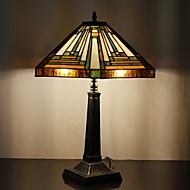60W Lumière traditionnel verre Tiffany avec socle en résine