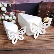 Weißer Kuchen Favor Boxen mit Butterfly - Set mit 10
