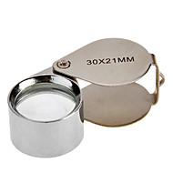 30X 30x21mm Drop Shape Folding jalokivikauppias Eye luuppi suurennuslasi suurennuslasi mikroskooppi