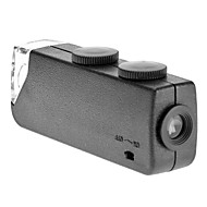 Mini 60X ~ 100X Verstelbare Zoom LED Verlichte Pocket vergrootglas Microscoop Loep
