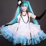 vocaloid Hatsune Miku camélia gelo e hortelã traje cosplay