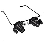 20X Magnifier forstørrelsesglas Eye Briller Juvelér Urmagere LED Light Glasses Lup Lens